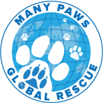 Many Paws Global Rescue Logo
